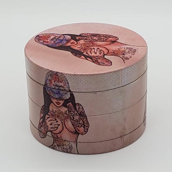 Legal Juana Tattoo Girl Grinder 50mm