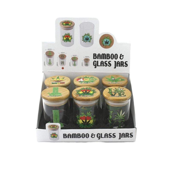 Bamboo & Glass Jars - Large - 6 Count