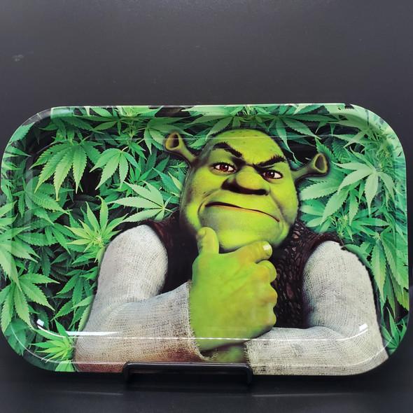 """Medium Rolling Tray 11"""" x 7"""" - Leafy Shrek"""