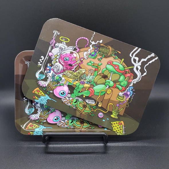 """Small Rolling Tray with Magnetic Cover 7"""" x 5"""" - Teenage Mutant Ninja Turtles"""