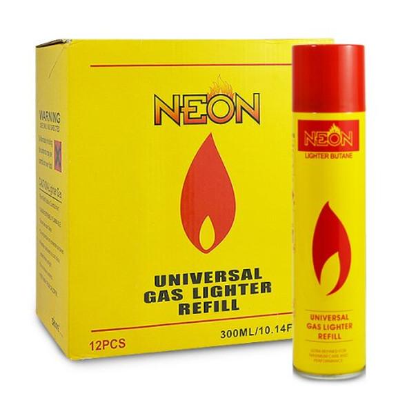 Neon Butane 300ml 12ct - $1.25 each