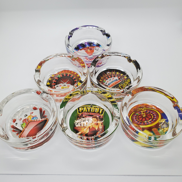 Casino Small Ashtray - Sold in a Display of 6