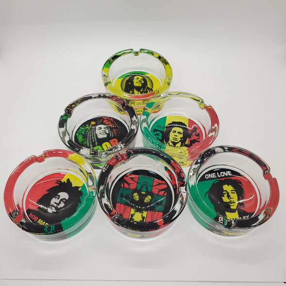 Rasta Man 2 Small Ashtray - Sold in a Display of 6