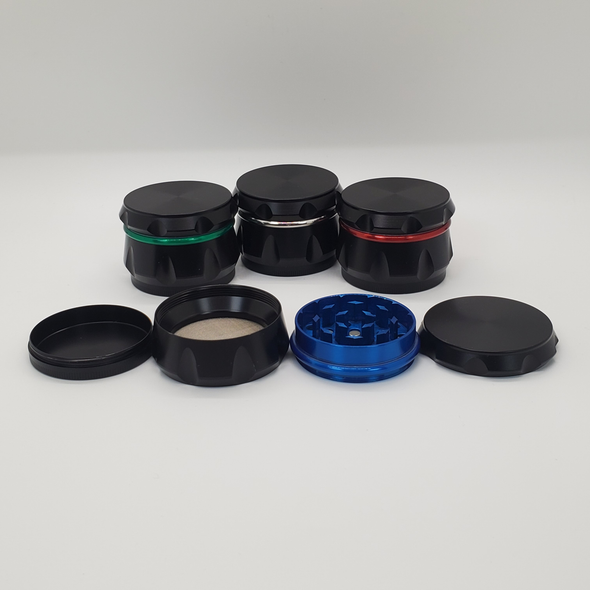 Black Diamond Cut Grinder with Colored Ring