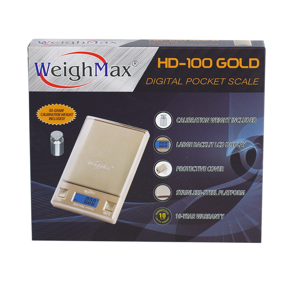 Weighmax HD-100 Gold - 100g x 0.01g