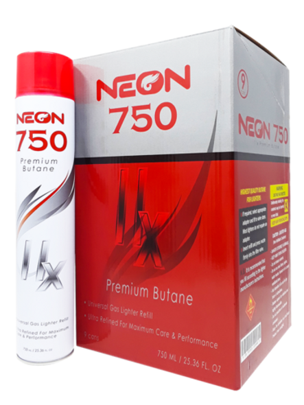 Neon 11x Butane 750ml 9ct