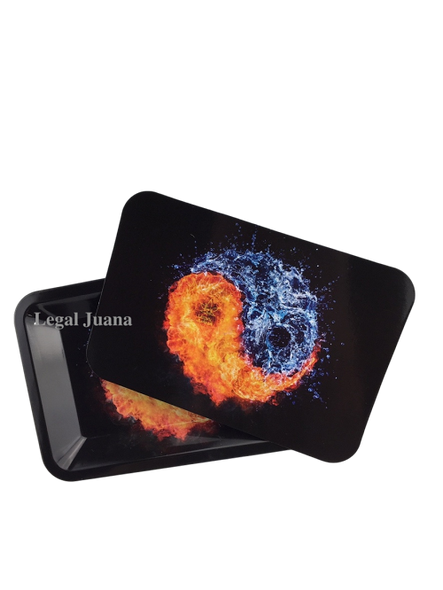 Legal Juana Rolling Tray with Magnetic Cover - Yin Yang