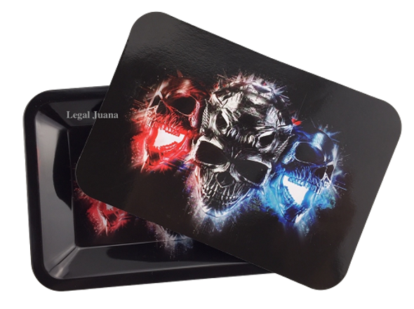 Legal Juana Rolling Tray with Magnetic Cover - Demons