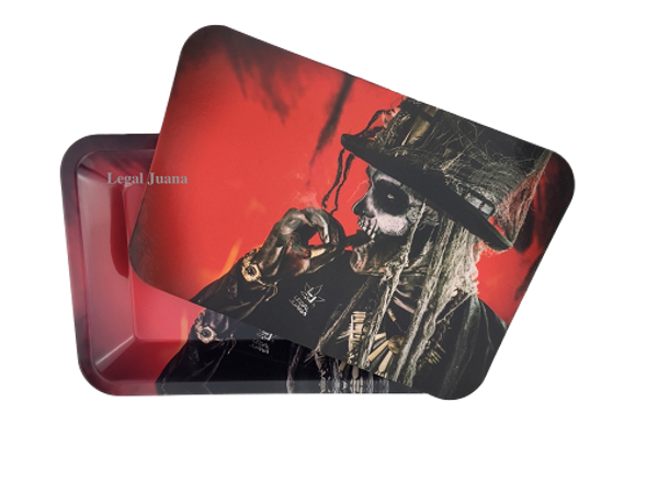 Legal Juana Rolling Tray with Magnetic Cover - Hoo Doo