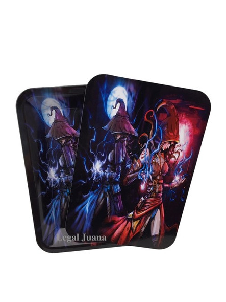 Legal Juana Rolling Tray with Magnetic Cover - Dueling Witches