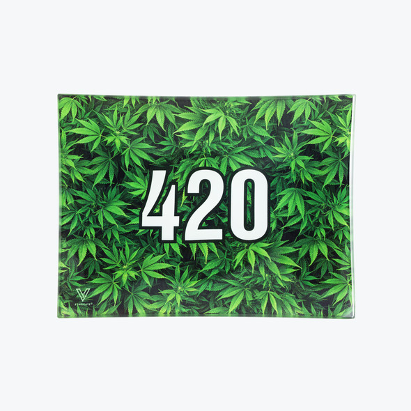 V. Syndicate Glass Rolling Tray Small - 420 Green