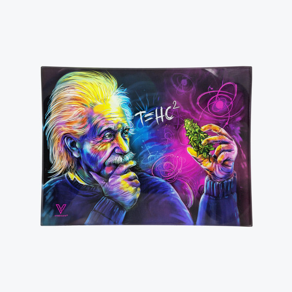 V. Syndicate Glass Rolling Tray Small - T=HC2 Einstein Classic