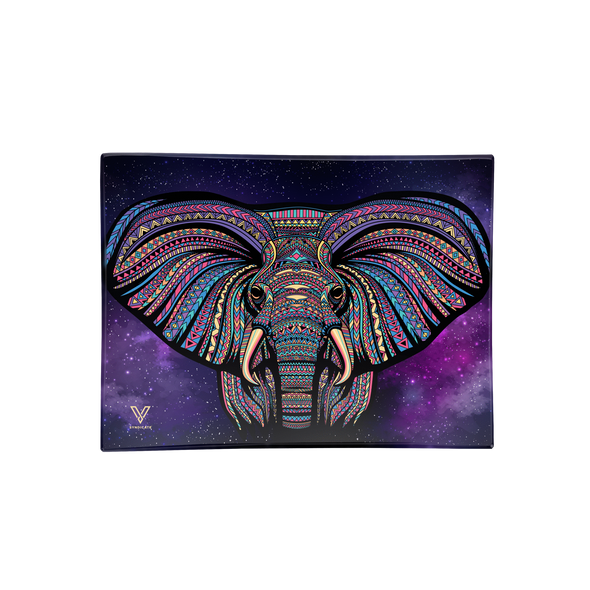V. Syndicate Glass Rolling Tray Medium - Elephant