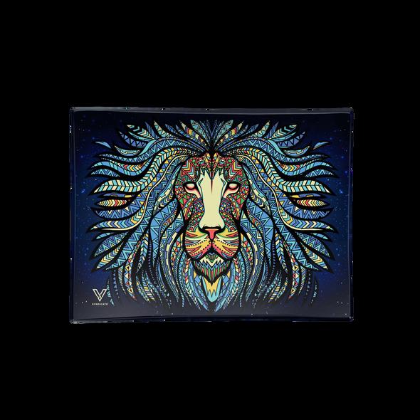 V. Syndicate Glass Rolling Tray Medium - Tribal Lion