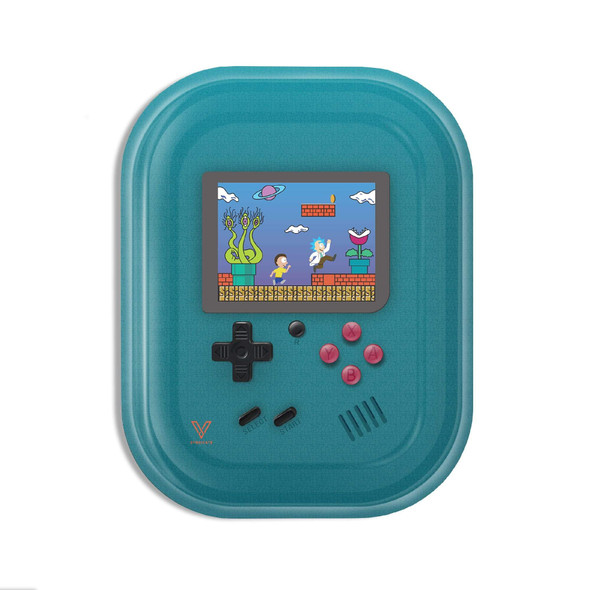 V. Syndicate Metal Rolling Tray Small - Teal Game Head