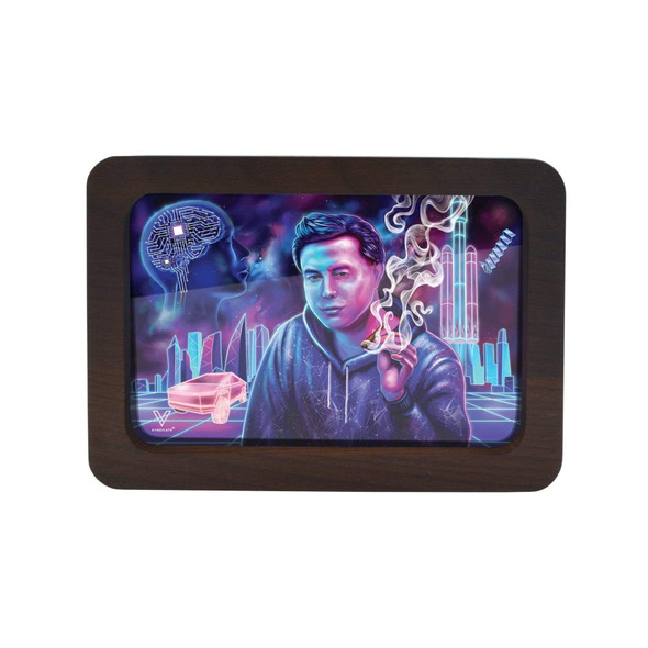 V. Syndicate High Def 3D Wood Rolling Tray Small - Space Xhale