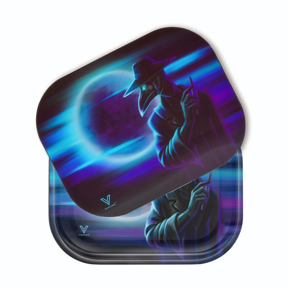 V. Syndicate Rolling Tray with 3D Cover Small - Dark Traveler