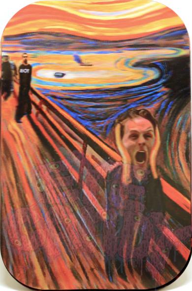 "3D Rolling Tray 7"" x 11"" - Scream"