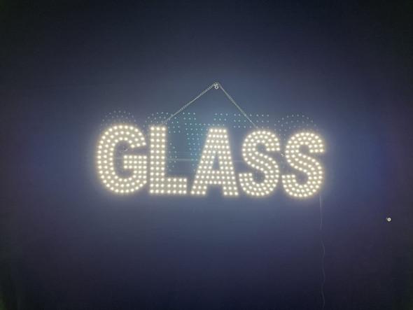 """Glass Sign - White - 9"""" x 30"""""""