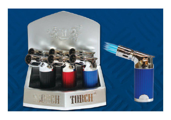 """Scorch Torch Display 4.5"""" Quadruple Torch - Display of 6"""