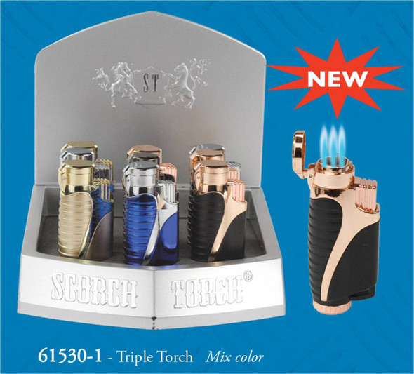 """Scorch Torch Display 3.5"""" Triple Torch - Display of 12"""