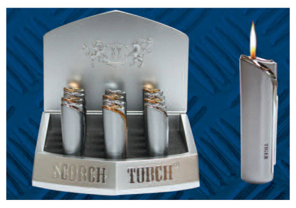 """Scorch Torch Display 3⅛"""" Windproof - Display of 12"""