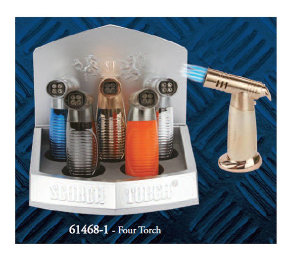 """Scorch Torch Display 5.5"""" Quadruple Torch - Display of 6"""