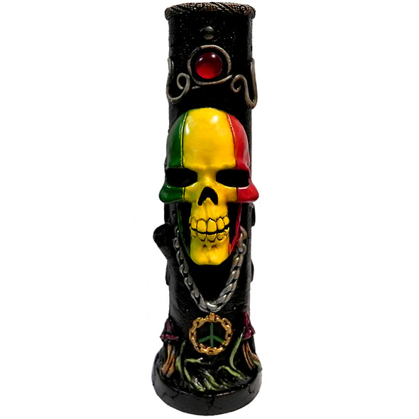 Rasta Skull Peruvian Water Pipe