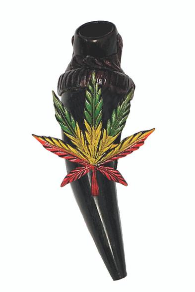 Rasta 420 Leaf Horn Pipe