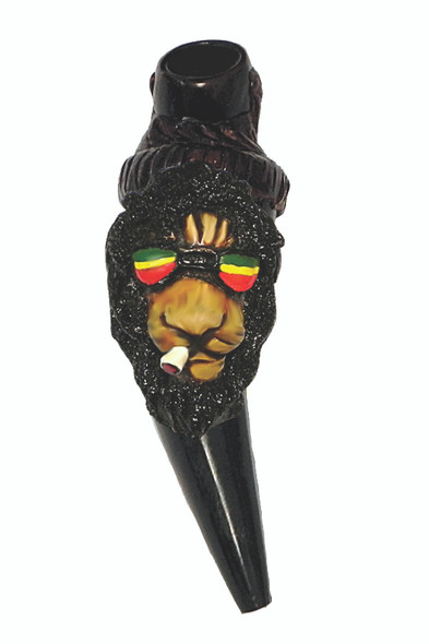 Rasta Lion Horn Pipe
