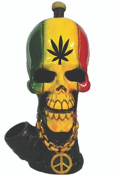 Rasta Leaf Skull