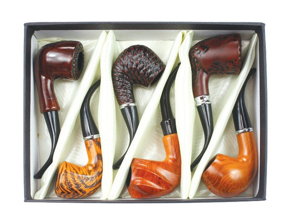 "Wood Pipe 5.5"" 6 Count Gift Box"