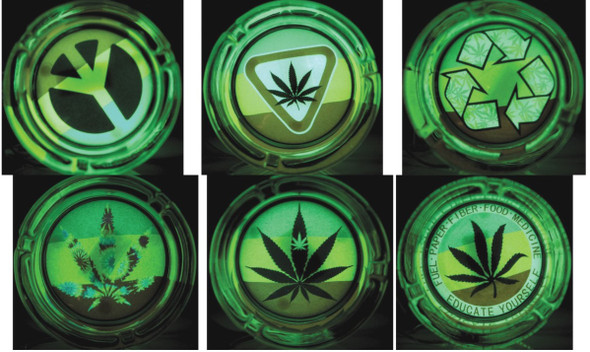 Glass Ashtray - Glow in the Dark