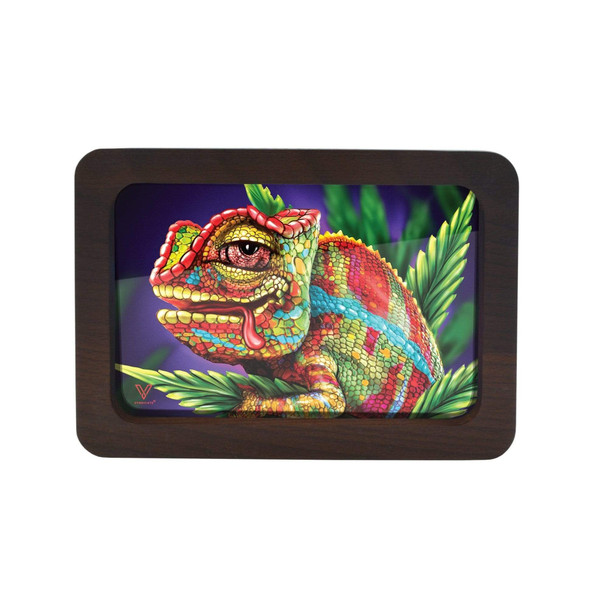 V. Syndicate High Def 3D Wood Rolling Tray Small - Cloud 9 Chameleon