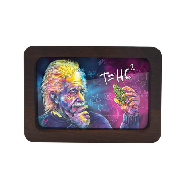 V. Syndicate High Def 3D Wood Rolling Tray Small - T=HC2 Einstein