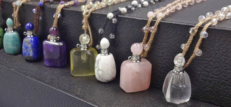 Perfume Stone Vials shown (Oils soon to be sold separately on our website)