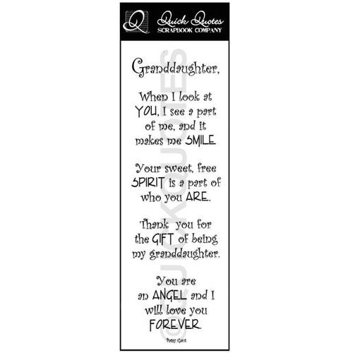 Granddaughter Vellum Strip
