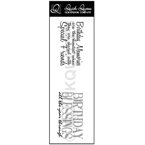 Birthday Blessings Vellum Strip
