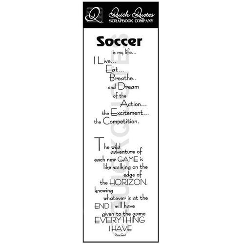 Soccer Vellum Strip