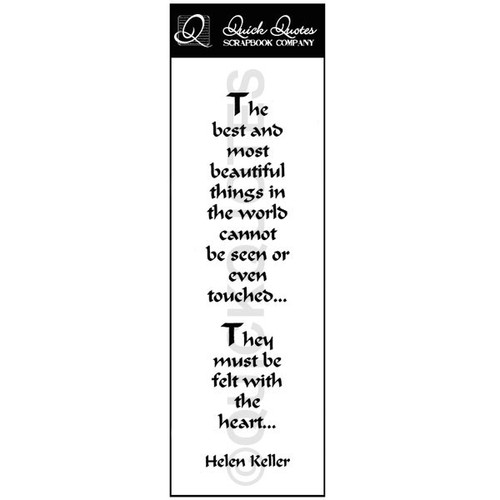 The Best and Most Beautiful Think In The World Vellum Strip 1