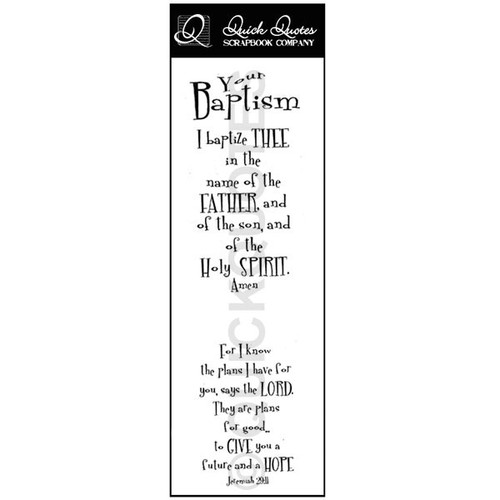 Your Baptism Vellum Strip