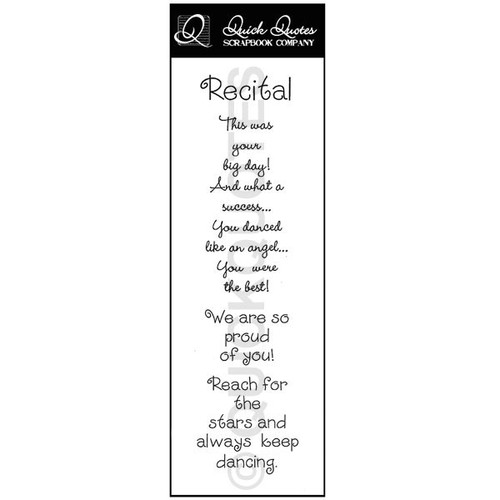 Recital Vellum Strip
