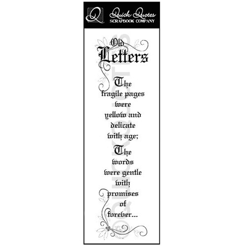 Old Letters Vellum Strip