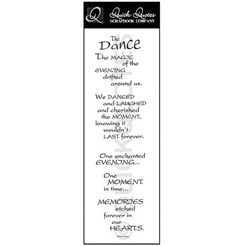 The Dance Vellum Strip
