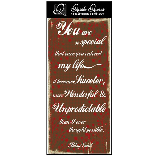 You are so special - Color Vellum 1