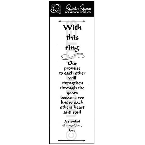 With This Ring Vellum Strip