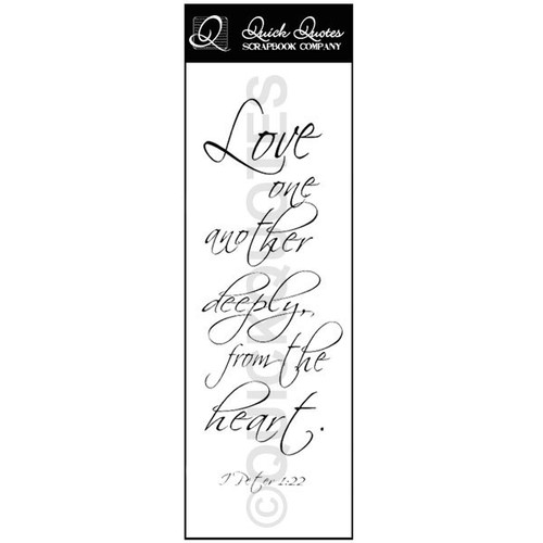 Love One Another Deeply Vellum Strip 1