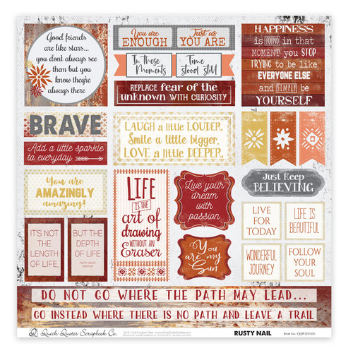 "Rusty Nail 12"" x 12"" Quotes & Phrases"