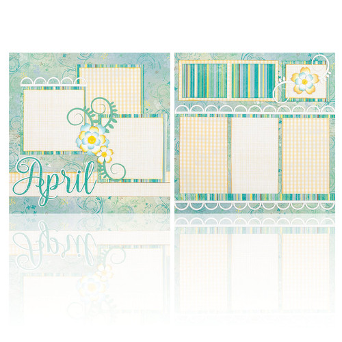 "April -  (2) 12"" x 12"" Page Layouts"