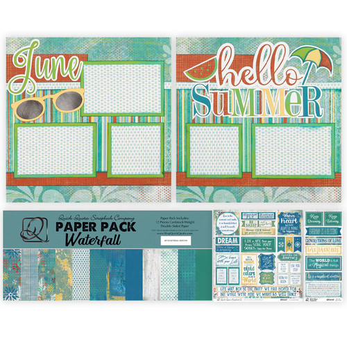 """Craft Along June Great Lake VOLUME Event: June - (2) 12"""" x 12"""" Page Layouts Bundle"""